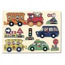 puzzle na desce-dopravní prostředky