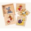 puzzle v krabičce-mini/4 ks/
