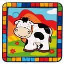 puzzle na desce-kráva